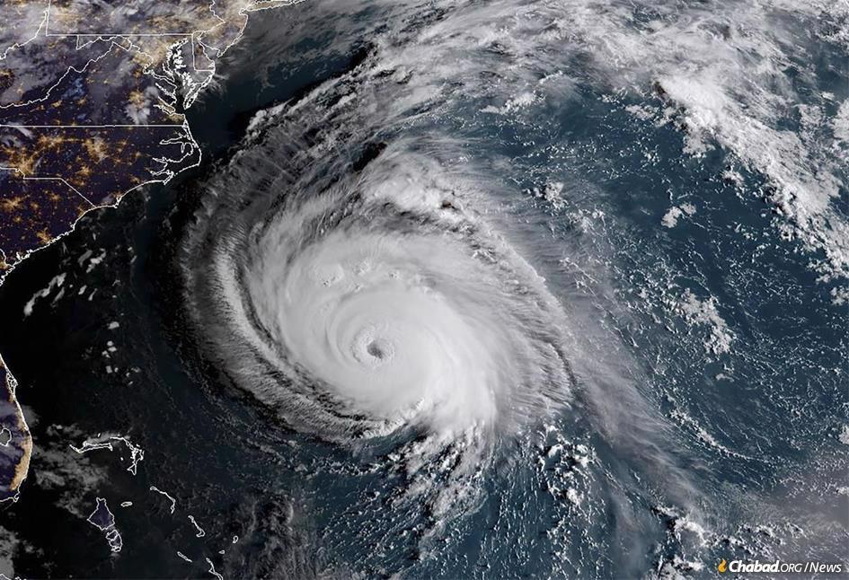 Hurricane Florence bears down on the East Coast. (Photo: NOAA/NASA)