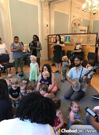 Children get their first taste of Jewish holidays.