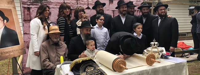 October 2018: First Stop Is Mexico for Traveling Torah Dedicated to Long Island Emissaries' Son