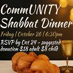 RSVP CommUNITY Shabbat Dinner