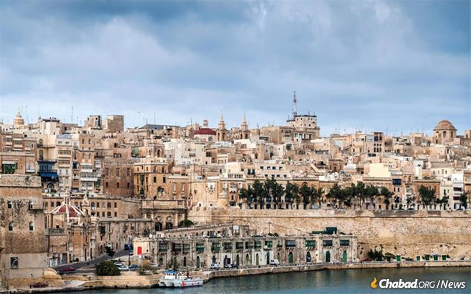 Historic Malta once again has a thriving Jewish community and hosts tourists from around the world.