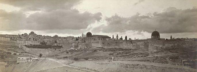 Paisagem de Jerusalém (Biblioteca do Congresso dos Estados Unidos).