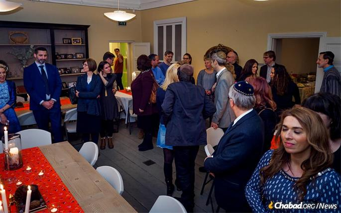 Local parents at a Chabad center event