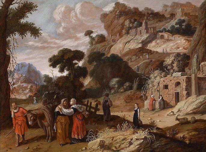Ruth e Naomi (Jacob Pynas, 1583-1631).