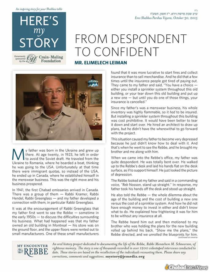 """About 3,000 copies of """"Here's My Story"""" are printed each week, with more than double that sent out via email. Many of those are sent to further lists and/or printed locally, thus gaining a readership of tens of thousands each week."""