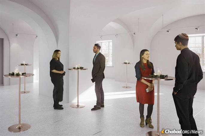The new center will include spaces for events for young Jewish professionals in Helsinki. (Artist's rendering)