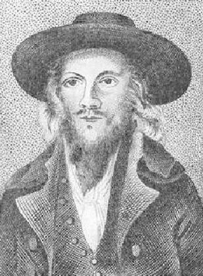 Lord George Gordon após sua conversão ao Judaísmo (Enciclopédia Judaica).