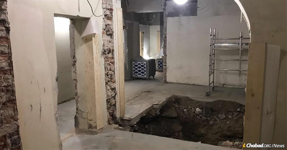 The Chabad center in Helsinki, Finland, was undergoing renovations when an excavation shovel struck what are believed to be wooden beams of a Russian fortress, according to state archaeologists.