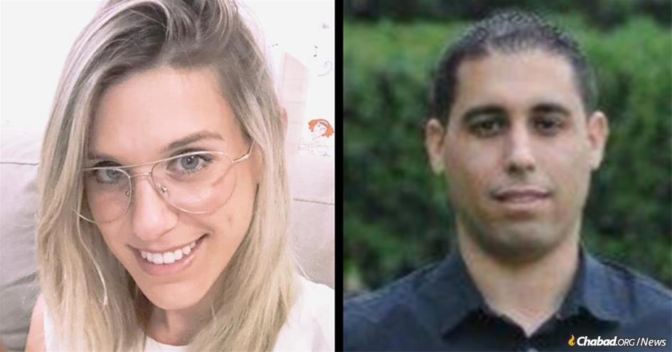 Kim Levengrond Yehezkel and Ziv Hajbi were shot dead by a terrorist at an industrial park where they worked near Ariel, Israel. (Photos: Facebook)