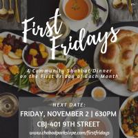 First Fridays Monthly Shabbat Diner