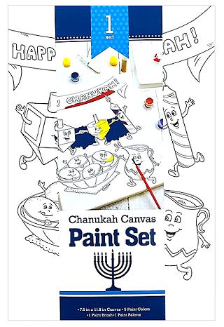 Chanukah Canvas Paint Set - Tzivos Hashem UK
