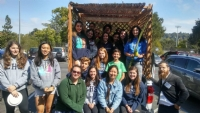Sukkah on wheels @ Hillsdale, S. Mateo and Carlmont High