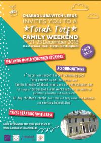 Torah Tots Family Weekend