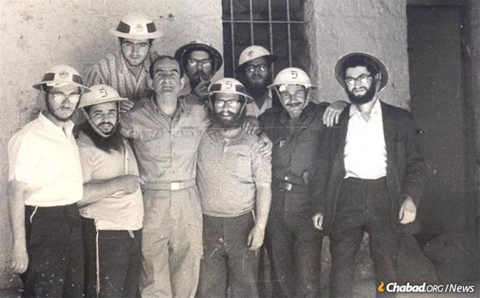 Volunteering to help the war effort in Israel during the Six-Day War.