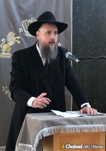 Rabbi Yitzchak Mendel Wagner is one of the first German-born rabbis to be serving in Germany since the Holocaust.