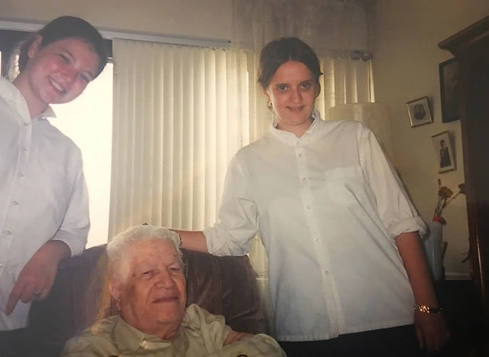 Visiting a Russian senior in the aged care facility.