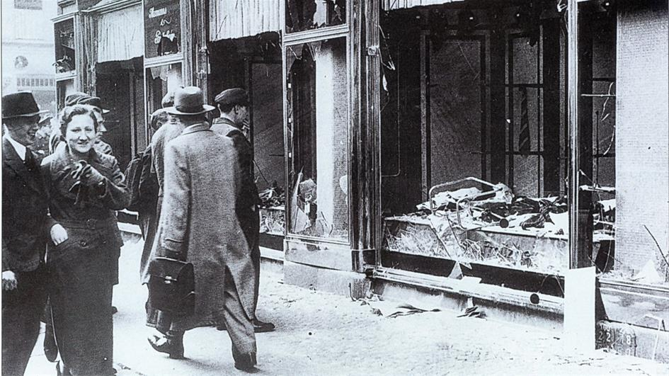 "In the infamous atrocities of Nov. 9-10, 1938, known as Kristallnacht (""The Night of Broken Glass""), Nazis and civilian conspirators throughout Germany torched synagogues; vandalized Jewish homes, schools and businesses; murdered hundreds; and dragged thousands of Jews from their homes in what is considered to be the first act of the Holocaust."