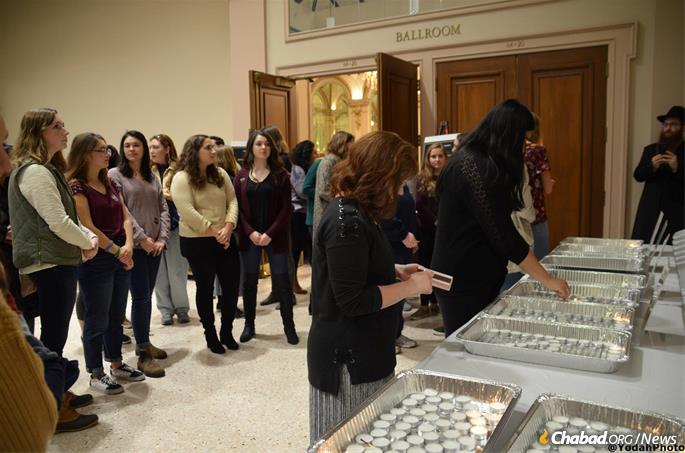 The Chabad House, which serves students at 10 universities, hosted 700 young people on Friday night for Shabbat dinner. Other synagogues in the city reported similar attendance in the hundreds.
