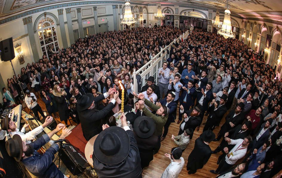 At the International Chabad on Campus Shabbaton in Brooklyn, N.Y. (Photo by Bentzi Sasson)
