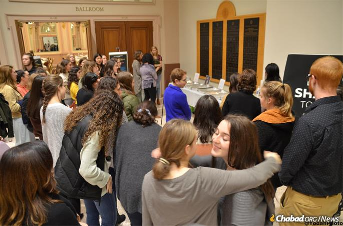 People came for prayer, for a Shabbat meal and to show solidarity with their fellow Jews.