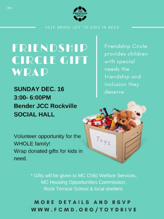 Toy Drive & Gift Wrap - Friendship Circle