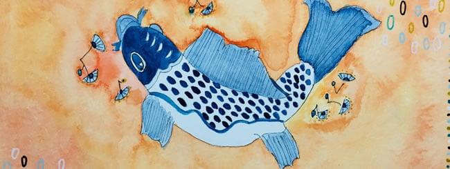 Jewish Art for the Soul: Art: Fish for Adar