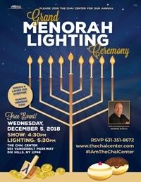 Grand Menorah Lighting Ceremony!