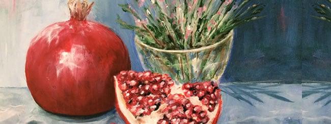 Art: Tu B'Shevat Pomegranate