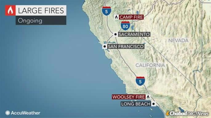 To date, 25 have been reported killed in the blazes, with entire communities decimated. (Map: AccuWeather)