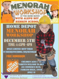 Aleph  Bet Hebrew Home Depot Menorag Workshop
