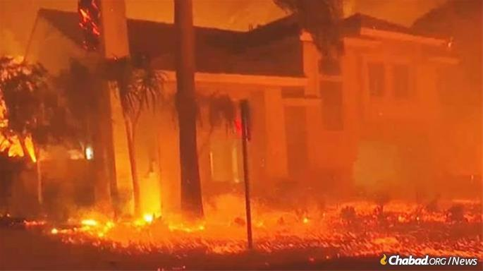 The worst wildfires in California history spread through two areas in the state's north and south.