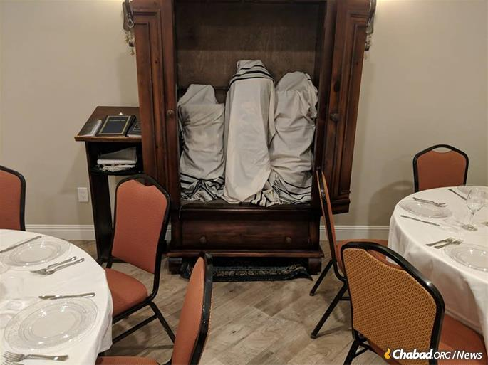 Torah scrolls are readied for evacuation from Thousand Oaks.