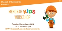 Menorah and Donuts workshop - Kids edition
