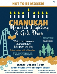 Chanukah Gelt Drop!