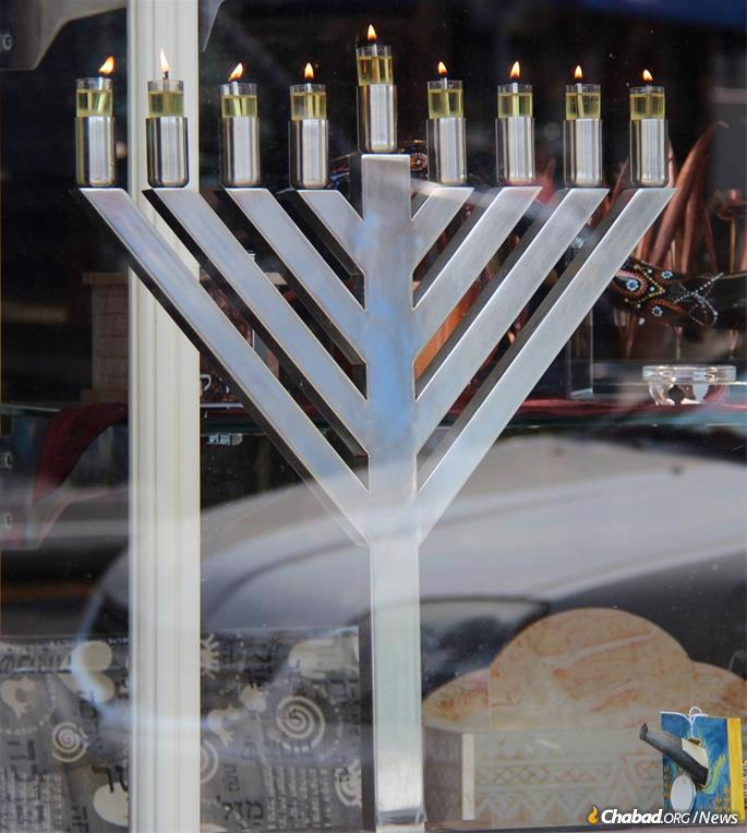Half of Klar's menorahs are sold to Chabad Houses around the world, and the other half are sold to various companies and organizations, including the U.S. military.