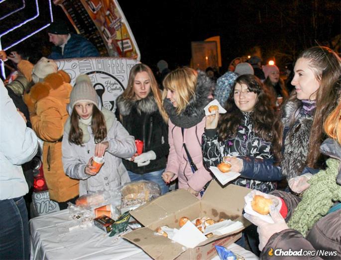 Last year's Chaukah celebration.