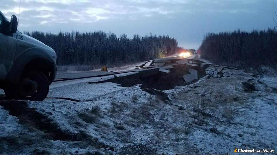 A 7.0 magnitude earthquake strikes Alaska. (Photo by Traci Marrs)