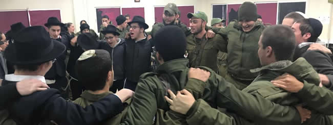 December 2018: IDF Soldiers Prep for Tunnel Op With Menorahs, Dancing (and Doughnuts)