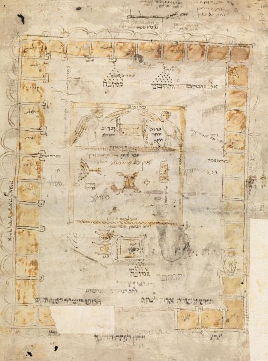 MS. Michael 384 Rashi (fol 142) Beis Hamikdash.png