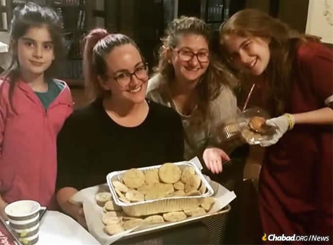 Home-baked goods and communal warmth have been a help to the many people who continue to stop by the Zwiebel home and Chabad center.