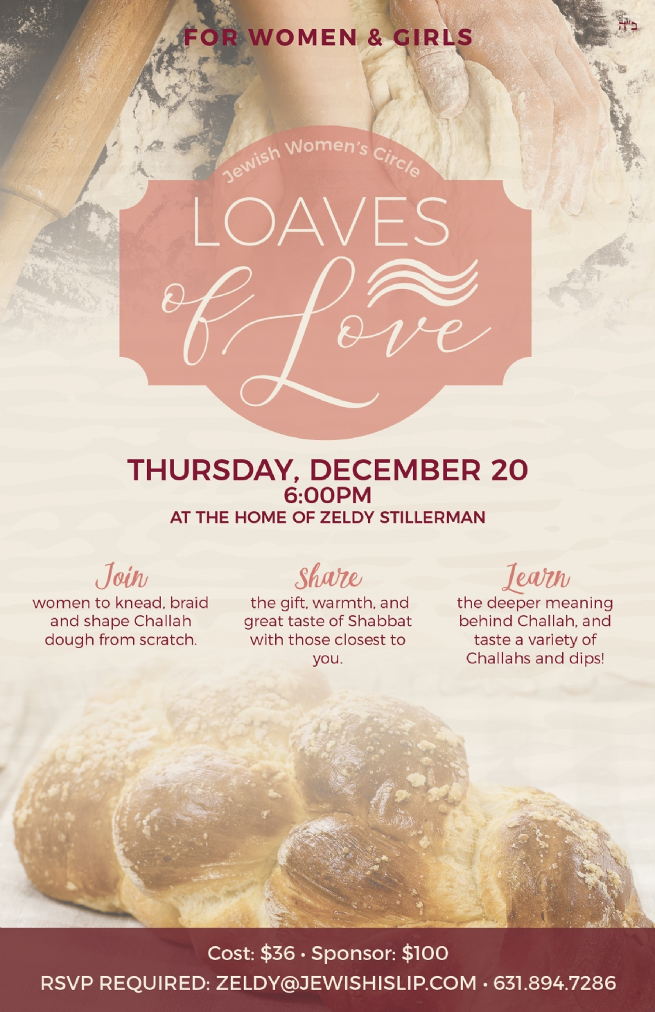Loaves of Love - Challah Bake - Chabad Of Islip Township