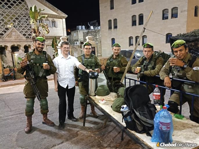 Chabad rabbinical students help out throughtout the year.