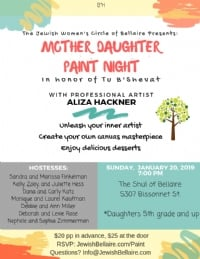 Mother Daughter Paint Night