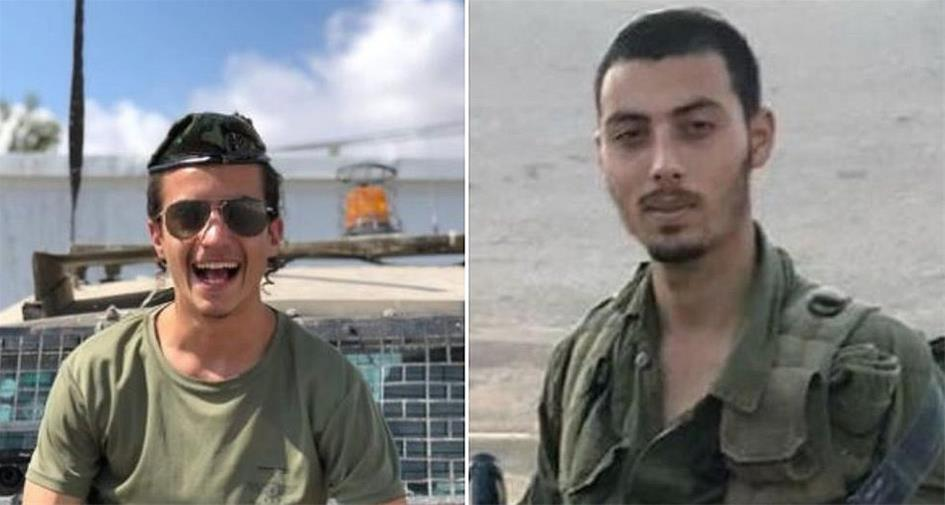 Sgt. Yosef Cohen (left) and Staff. Sgt Yovel Moryosef of the Israel Defense Forces' Kfir Brigade were shot and killed in an attack outside the Givat Asaf settlement outpost in the central West Bank. (Photo: Israel Defense Forces)