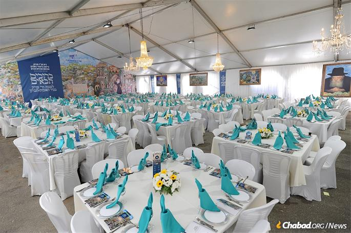 Once a year, on Parshat Chaya Sarah, a massive, lavish hospitality tent is erected for the many visitors who travel to Hebron.