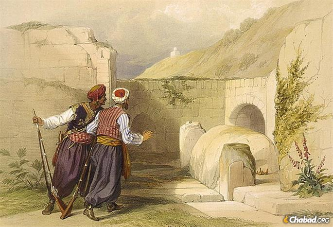 The tomb of Joseph, painted by David Roberts in 1839