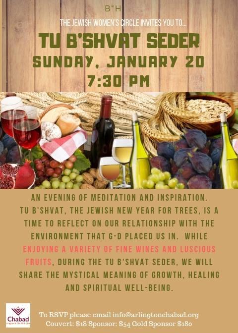 Women's Tu B'Shvat Seder 2019 - Chabad of Southlake