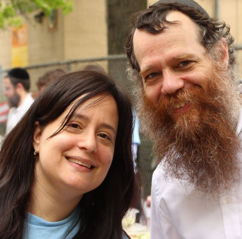 Image may contain: Sarah Alevsky and Chayim Boruch Alevsky, people smiling