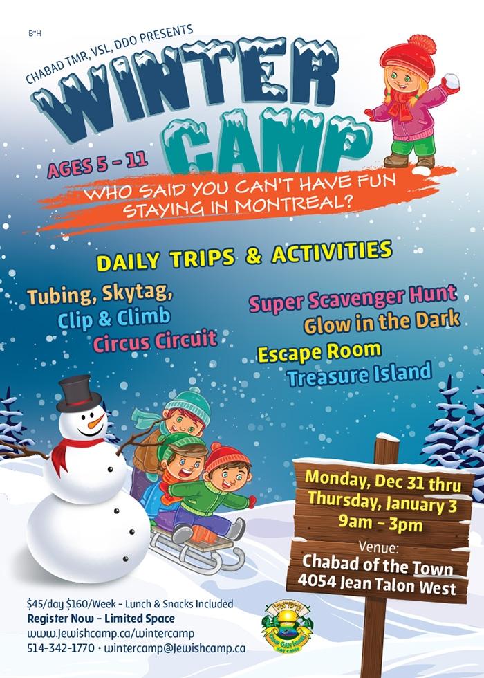 60aed2b1ba1 Winter Camp! - Camp Gan Israel