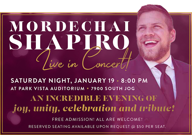 Mordechai Shapiro Live in Concert